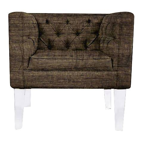 Rojo 16 Provence Square Brown Fabric Accent Chair