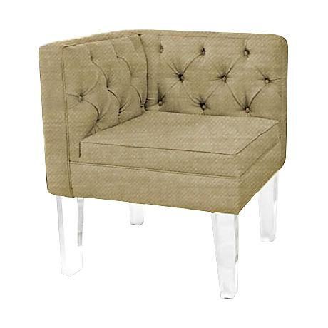 Rojo 16 Provence Gold Fabric Tufted Corner Chair
