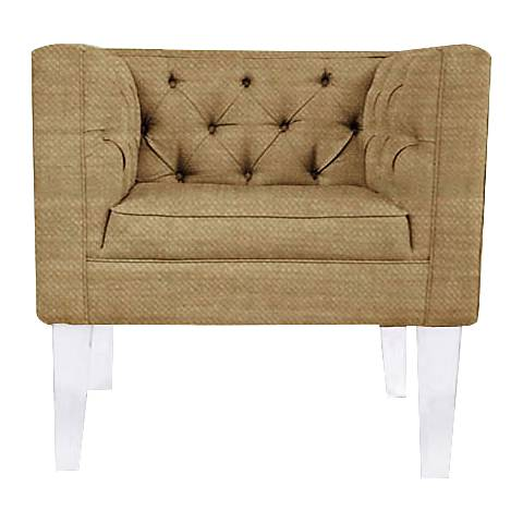 Rojo 16 Provence Square Gold Fabric Accent Chair
