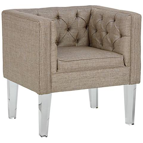 Rojo 16 Provence Square Silver Fabric Accent Chair