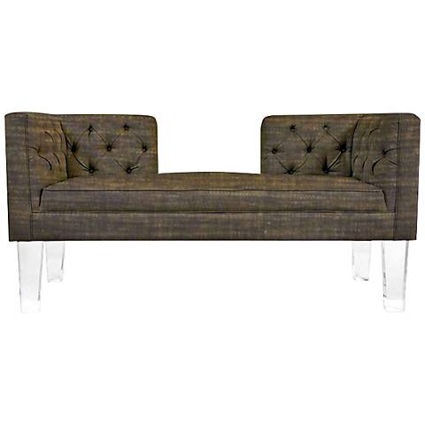"""Rojo 16 Provence Open-Back Brown 61"""" Wide Fabric Sofa"""