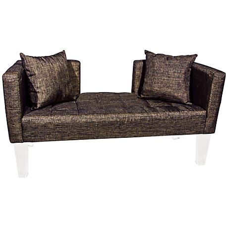 Rojo 16 St. Tropez Accent Pillow Brown Fabric Sofa