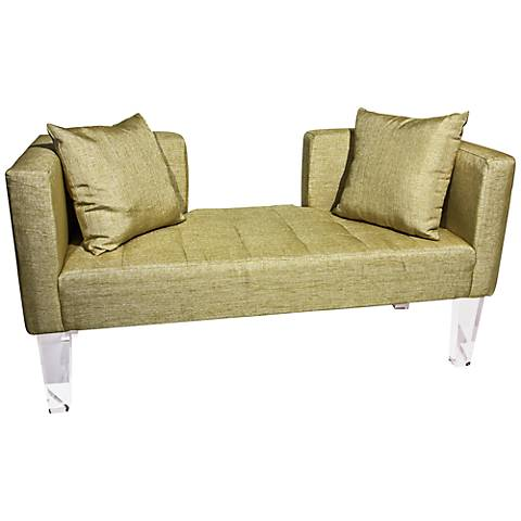 "Rojo 16 St. Tropez Accent Pillow Gold 58"" Wide Fabric Sofa"