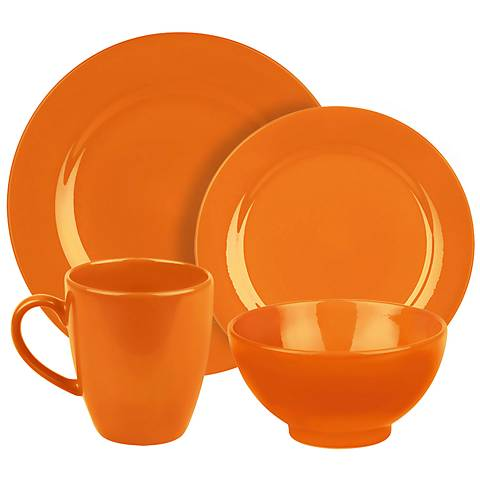 Fun Factory Orange 16-Piece Place Setting