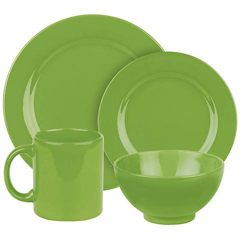 Fun Factory Green Apple 16-Piece Place Setting