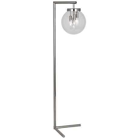 Zoltar Polished Nickel Floor Lamp by Robert Abbey