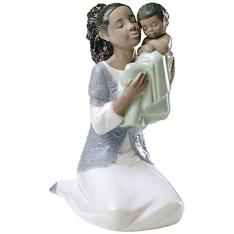 "Nao In Loving Arms 7 1/2""H Porcelain Sculpture"