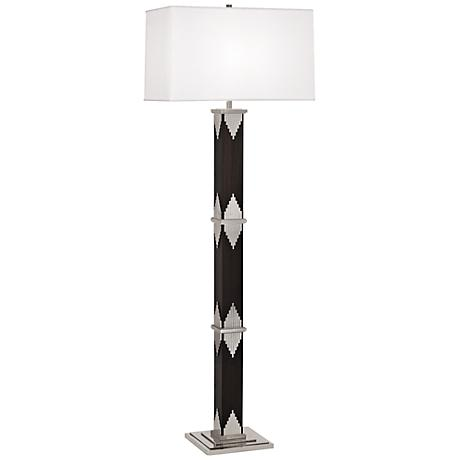 Wentworth Floor Lamp with Nickel Accents