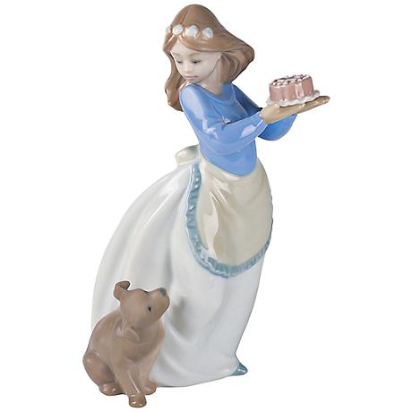 """Puppy's Birthday Porcelain 7 1/2""""H Hand-Crafted Sculpture"""