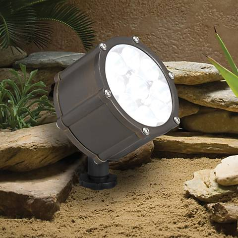 "Kichler Landscape Brass 4 1/4"" High LED Spotlight"