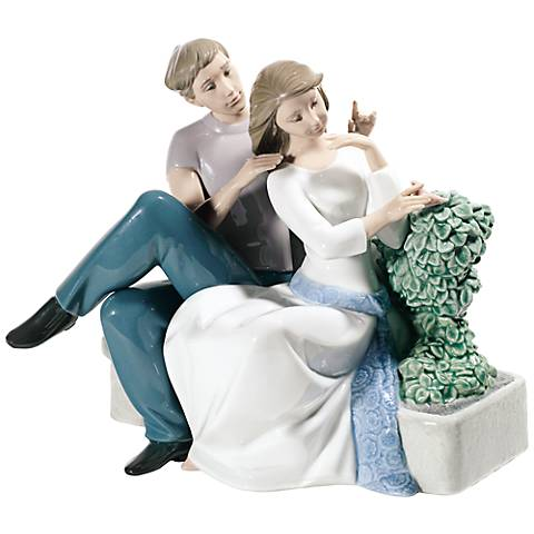 """Nao The Perfect Couple 8 1/4"""" Wide Porcelain Sculpture"""