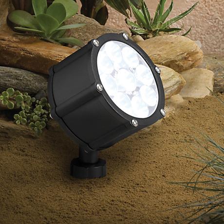 "Kichler Landscape Black 4 1/4"" High LED Medium Floodlight"