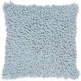 "Aqua 18"" Square Shag Throw Pillow"