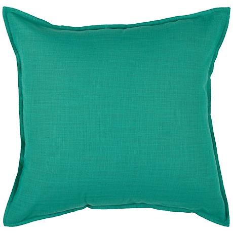 "Vibrant Turquoise 20"" Square Throw Pillow"