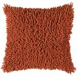 "Paprika Spice 18"" Square Shag Throw Pillow"