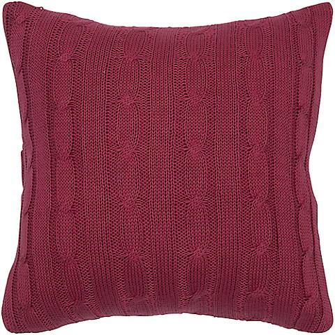 "Red Sweater Knit 18"" Square Throw Pillow"