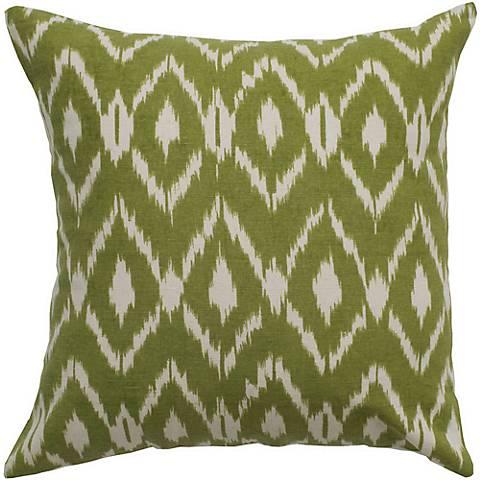 """Sage Green Diamond Print 18"""" Square Throw Pillow"""