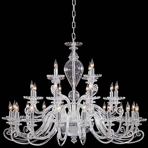 "Metropolitan Traditional 41"" Wide Clear Glass Chandelier"