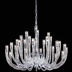 Metropolitan 35 1 2 Wide Clear Glass Chandelier