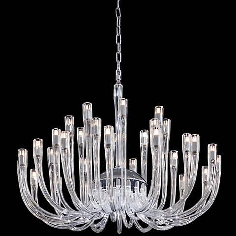 """Metropolitan 35 1/2"""" Wide Clear Glass Chandelier"""