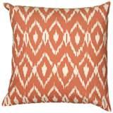 """Orange Diamond Print 18"""" Square Throw Pillow"""