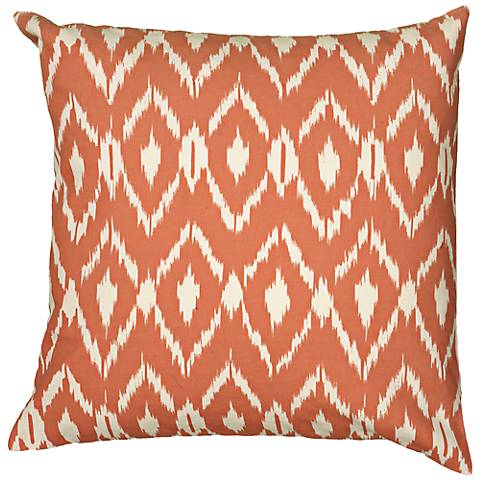 "Orange Diamond Print 18"" Square Throw Pillow"