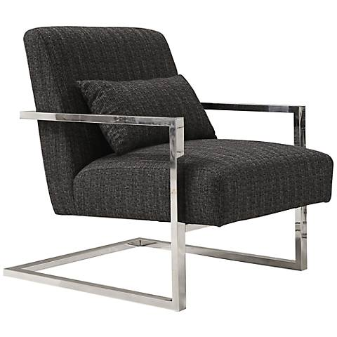 Skyline Charcoal Stainless Steel Accent Chair