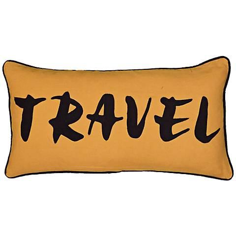 """Travel 21"""" x 11"""" Lumbar Throw Pillow"""