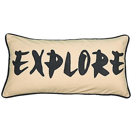 """Explore 21"""" x 11"""" Lumbar Throw Pillow"""