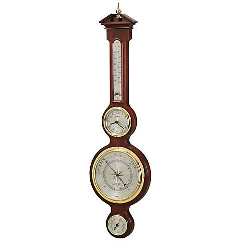 "Howard Miller Catalina 31"" High Hardwood Wall Clock"