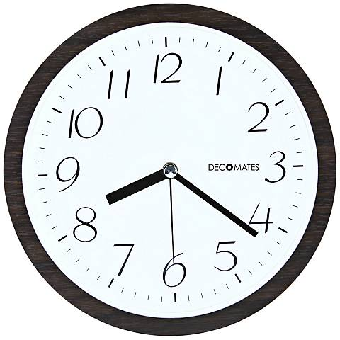 "Decomates Small Numbers 8 1/2"" Round Wall Clock"