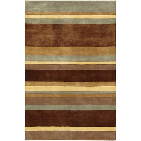 Chandra Antara ANT106 Striped Wool Area Rug