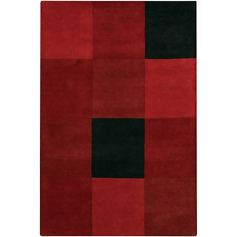 Chandra Antara ANT109 Red and Black Area Rug