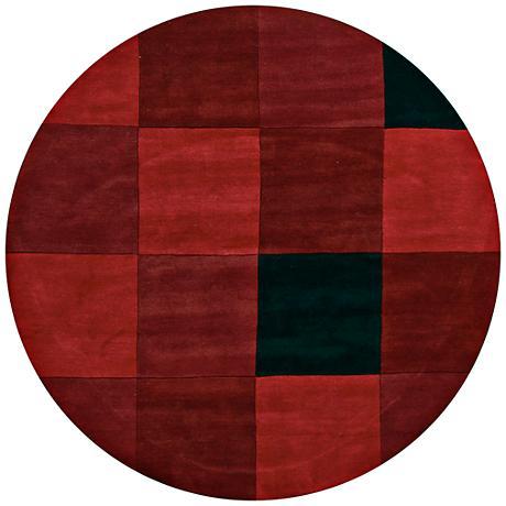 Chandra Antara ANT109 Red and Black Area Rug