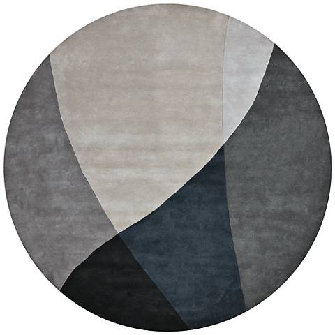Chandra Bense Garza BEN3003 Blue and Gray Wool Area Rug