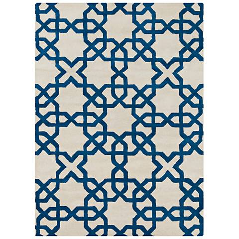 Chandra Davin DAV25803 White Wool Area Rug