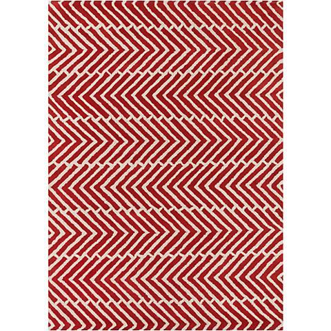 Chandra Davin DAV25810 Red Wool Area Rug