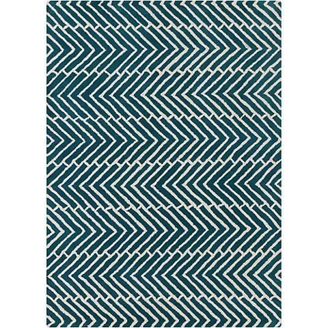 Chandra Davin DAV25812 Blue Wool Area Rug