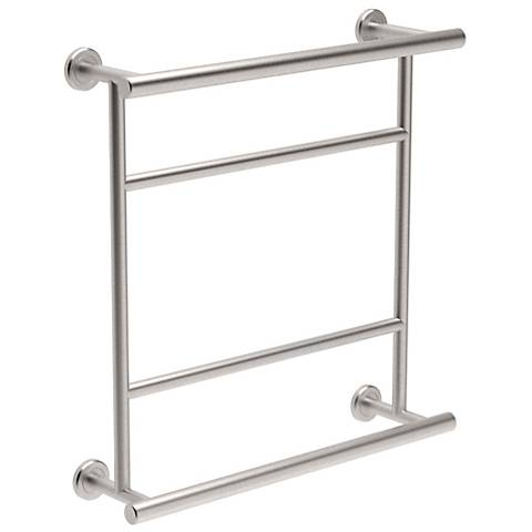 Gatco Latitude II Satin Nickel Hotel Centre Towel Rack