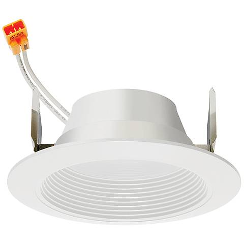 "4"" Juno 11.5 Watt 2700K Baffle LED Retrofit Trim in White"