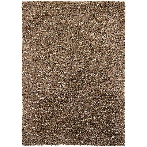 Chandra Estilo EST18501 Brown Shag Rug