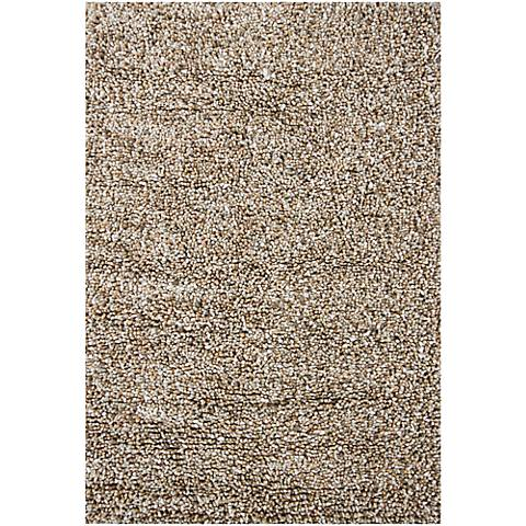 Chandra Gems GEM9603 Taupe and Ivory Shag Rug