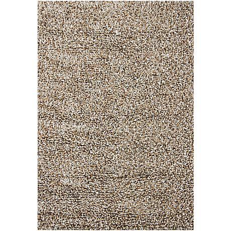 Chandra Gems GEM9603 Taupe and Ivory Shag Rug