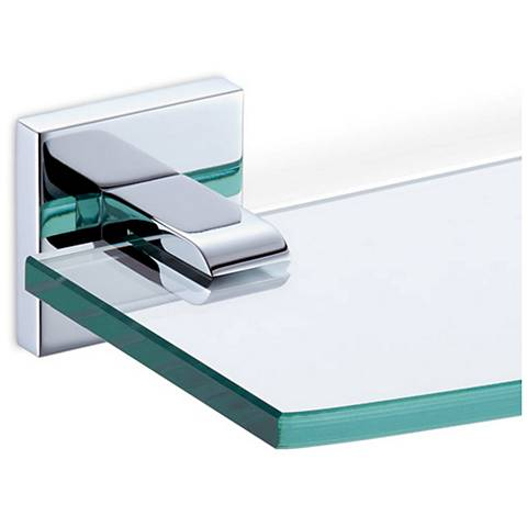 Gatco Elevate Chrome Tempered Glass Shelf
