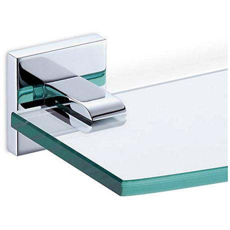 Gatco Elevate Chrome Tempered Glass Shelf