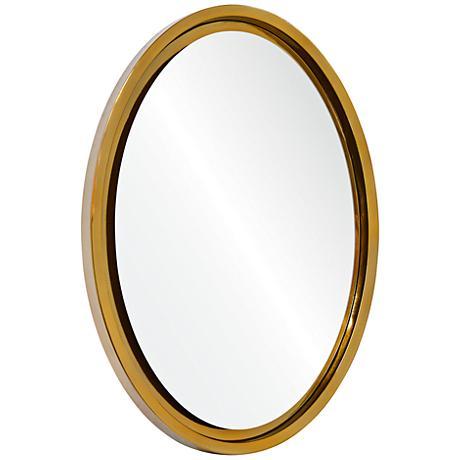 """Krea Antique Silver Leaf 31""""x21"""" Oval Wall Mirror"""