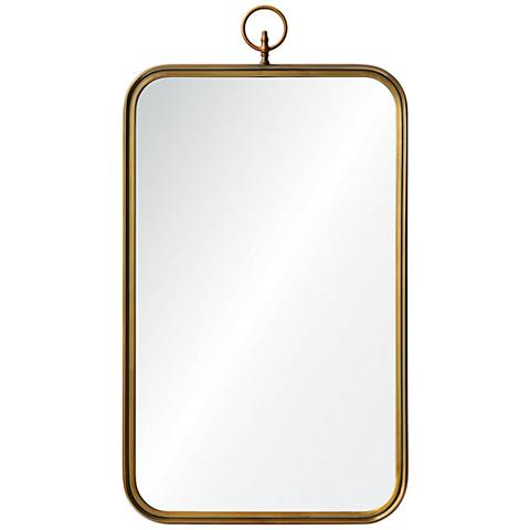 "Coburg Golden Brass 22"" x 36"" Rectangular Wall Mirror"