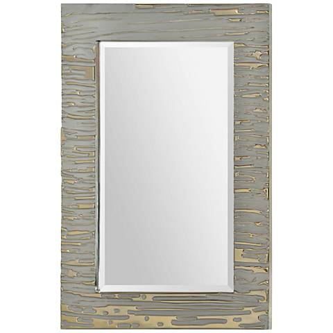 "Foxtrot Two-Tone Silver 24"" x 36"" Rectangular Wall Mirror"