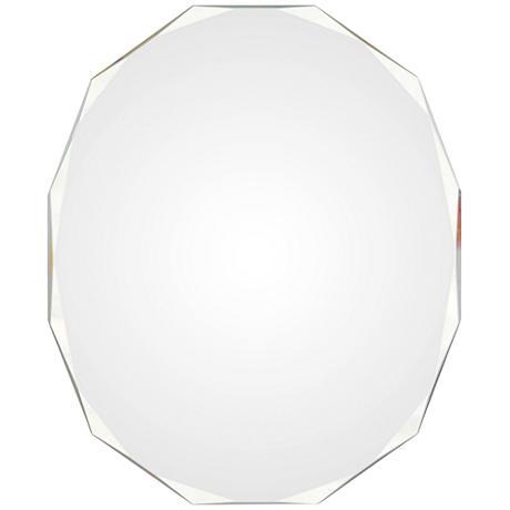 "Astor All-Glass 24"" x 28"" Frameless Polygon Wall Mirror"