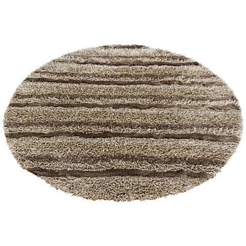 Chandra Kapaa KAP15500 Taupe Shag Rug